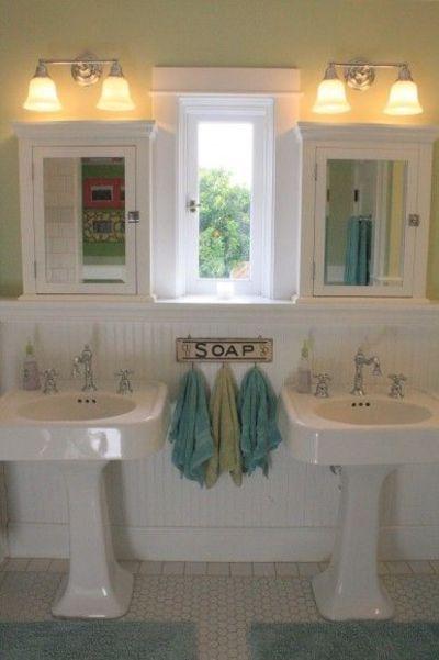 vintage pedestal double sinks | double pedestal sinks