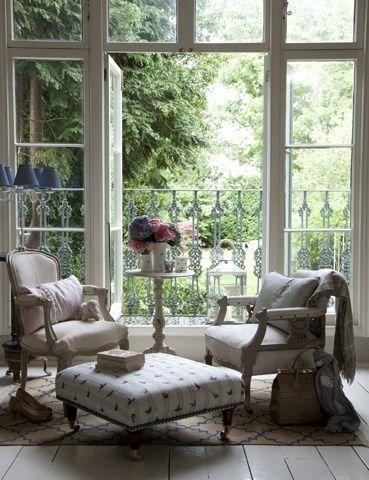 jardin desde ventana