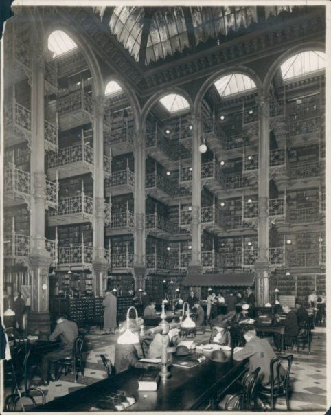 Detroit Public Library, main branch. This is the old library, no longer standing.