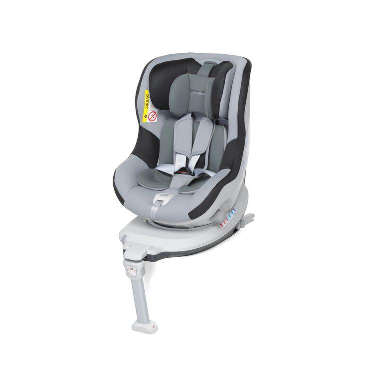 Silla auto con Isofix.  Gira 360º, puede ir a contra marcha hasta que el bebé pese 18 kgs. Facilita mucho colocar y sacar al bebé con su giro. Cumple con la norma ECE R44/04 actualmente en vigor en Europa.