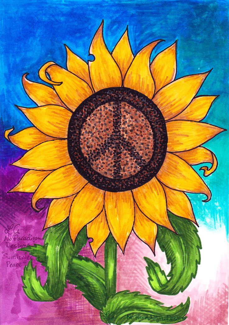 This sunflower peace sign is another classic No Paradigm ...