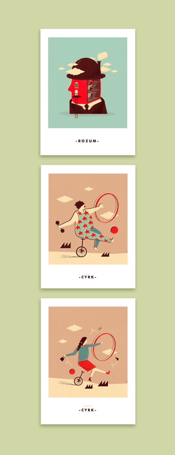 circus poster / mind poster Martyna Wójcik-Śmierska https://www.behance.net/gallery/8309911/POSTERS