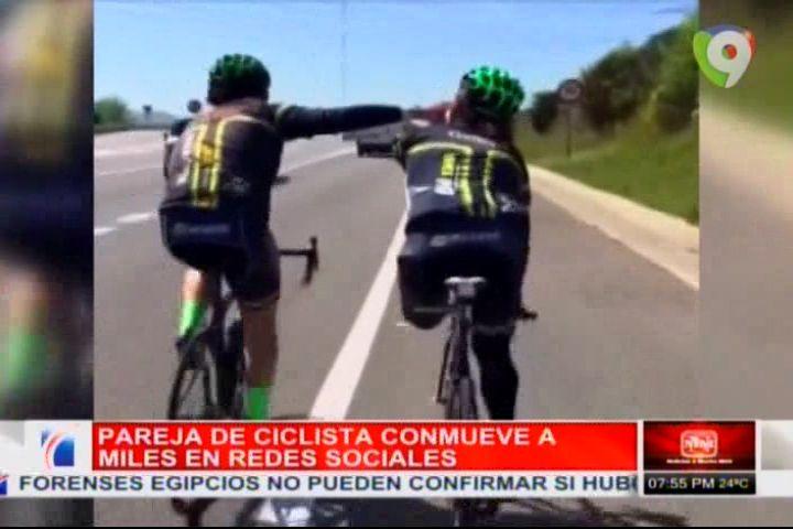 Pareja De Ciclista Conmueve A Miles En Redes Sociales