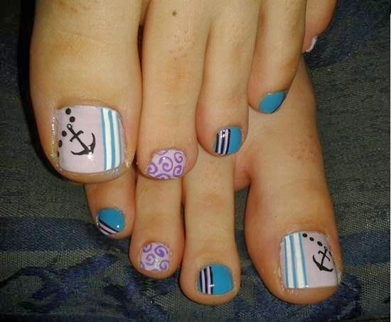 Toe Nail Art Designs with Anchor - 60 Best Toe Nail Designs Images On Pinterest Nails Design, Toe