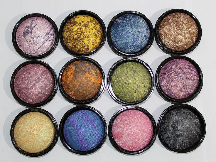 Ombretto Occhi Cotto Polvere Compatto Luminoso 12 Colori Makeup Dolci Sguardi