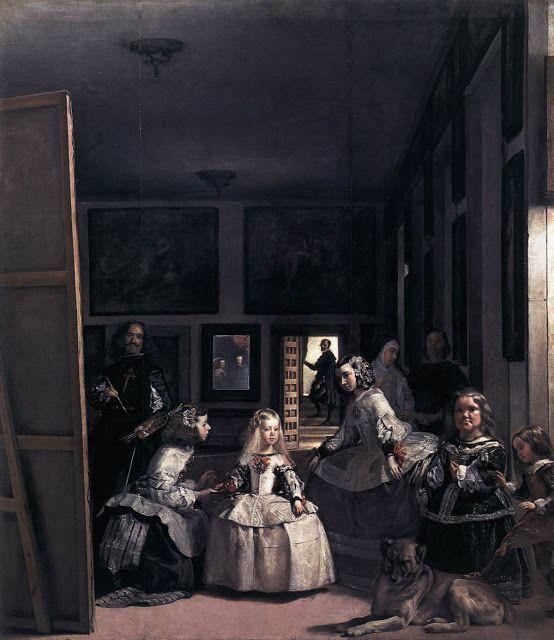 Η Οικογένεια του Φιλίππου Δ' / Οι δεσποινίδες των τιμών (1656) (Η πριγκίπισσα Μαργαρίτα με την ακολουθία της και οι νάνοι της αυλής)