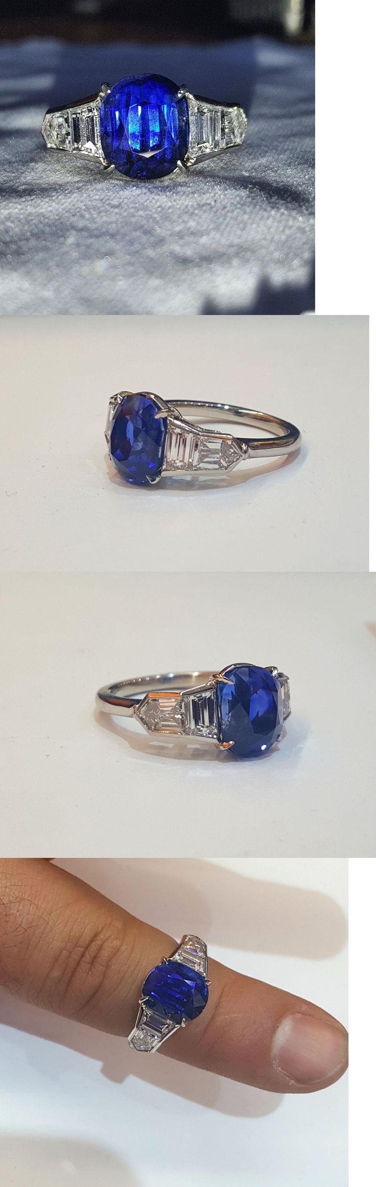 Natural Sapphires 4644: Rare Platinum Ring 7.59Ct. Natural Kashmir Untreated Blue Sapphire Cushion -> BUY IT NOW ONLY: $385000 on eBay!