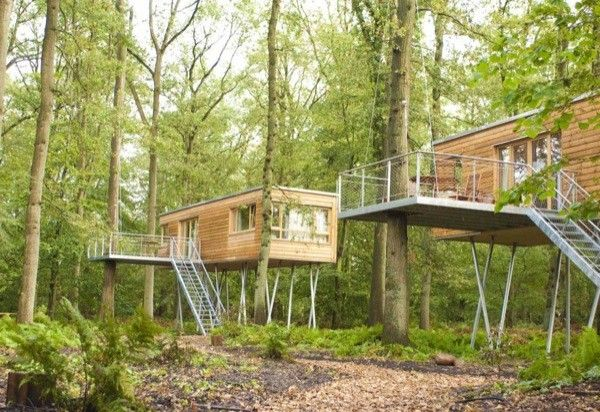 not really treehouses but interesting concept houses on stilts in the trees more like tree. Black Bedroom Furniture Sets. Home Design Ideas