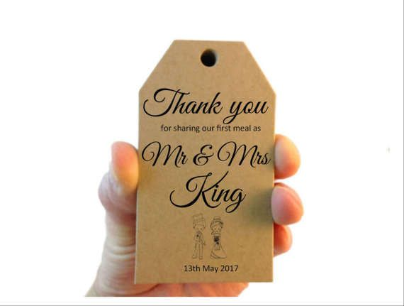 Kraft First Meal Gift Tags, Wedding Table Tags, Wedding Favours, Diy Favour Tags, Wedding Gift Tags, Napkin Tag, Gift Tags, Country Wedding