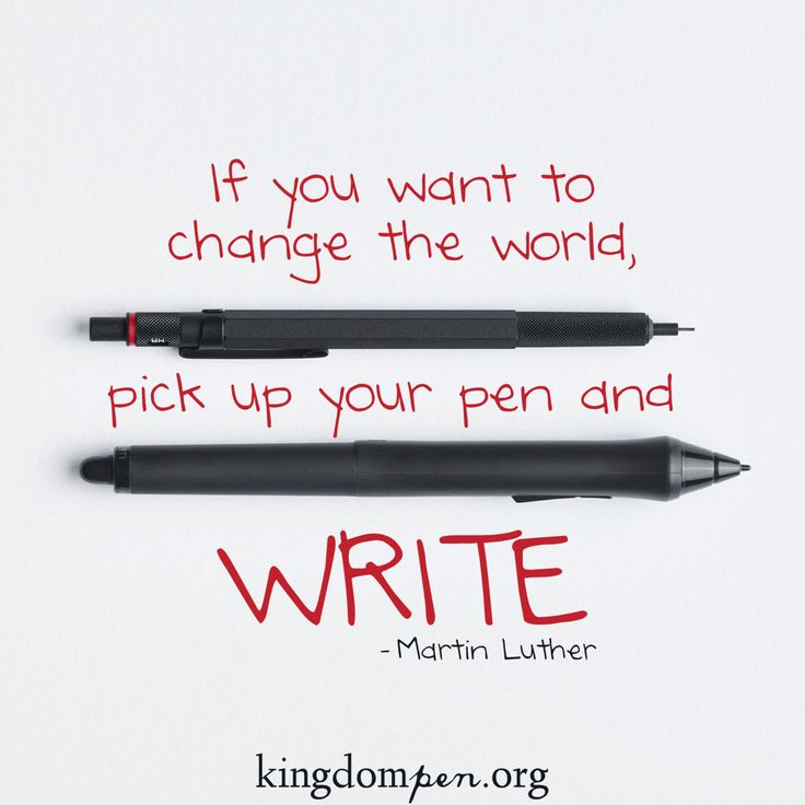 Kingdom Pen, writing quotes