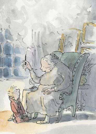 Grandmama telling stories about witches from 'The Witches' by Roald Dahl | Quentin Blake