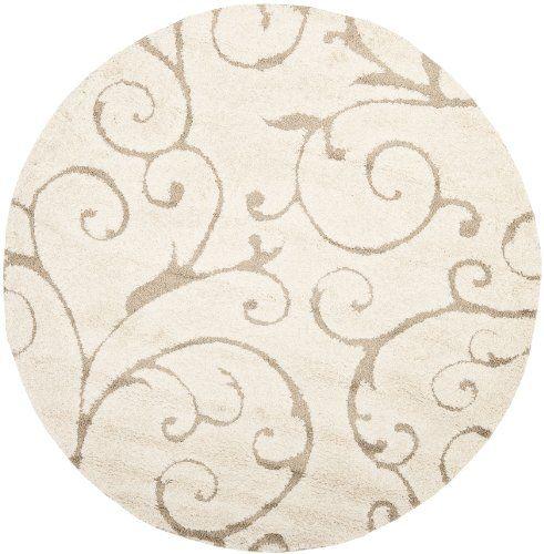 Safavieh Florida Collection Sg455 1113 Cream And Beige Round Area Rug 6
