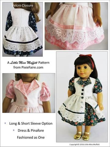 Little Miss Muffett Fairy Tale Fantasy Doll Clothes Pattern 18 inch American Girl Dolls | Pixie Faire