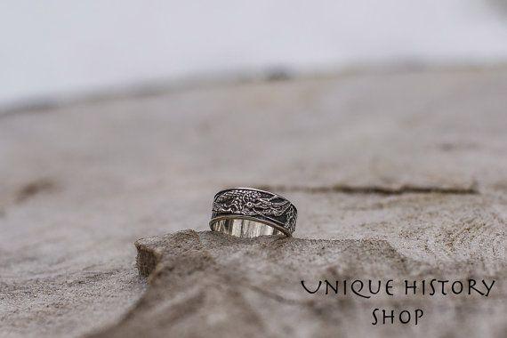 Gioielli animale drago anello argento fatto a di UniqueHistoryShop