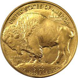 American Buffalo Gold Coins Reverse