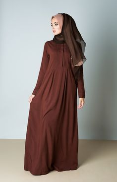Aab UK Origami Abaya - Chocolate Truffle : Standard view