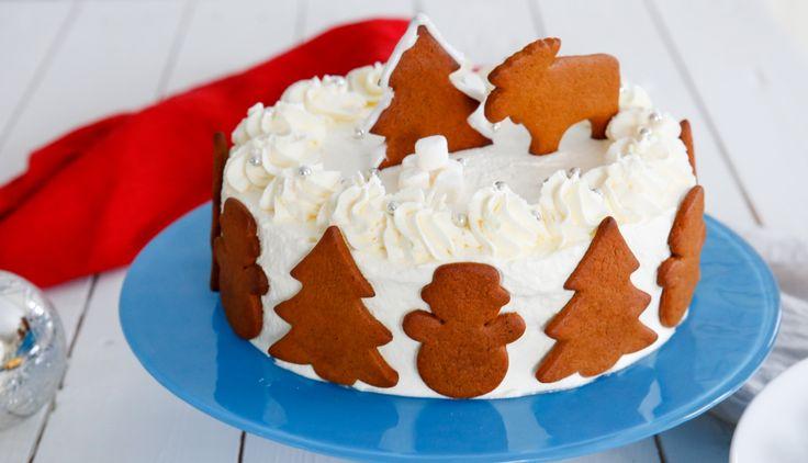 Helt fantastisk pepparkakstårta! Den ultimata jultårtan!