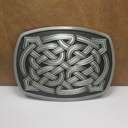 Western Celtic Belt Buckle Denim Cowboy Retro Styling Brand Metal Buckle