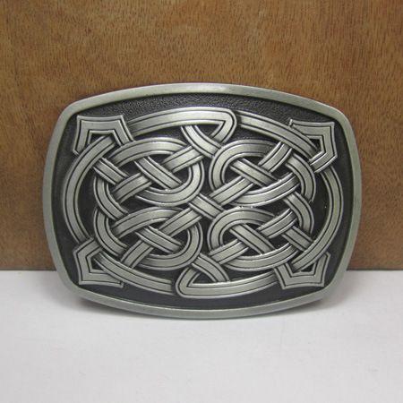 Western Celtic Belt Buckle Denim Cowboy Retro Styling Brand Metal Buckle