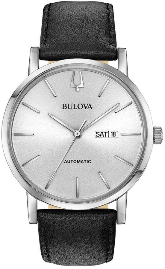 061f859295f Bulova Men s Classic Leather Automatic Watch - 96C130