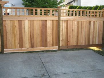 44 best fences and pergolae images on pinterest for Craftsman style fence