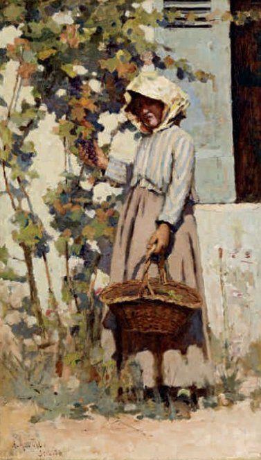 Arthur Melville, Paysanne a Grez, 1880, Canvas, 52 x 30.5, Private Collection.
