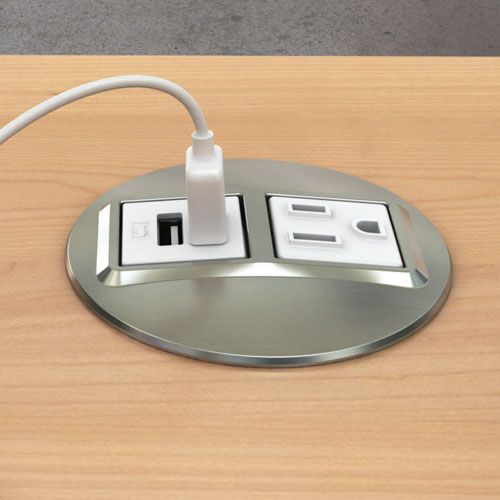 Node Power and USB Charging Outlet In Desk