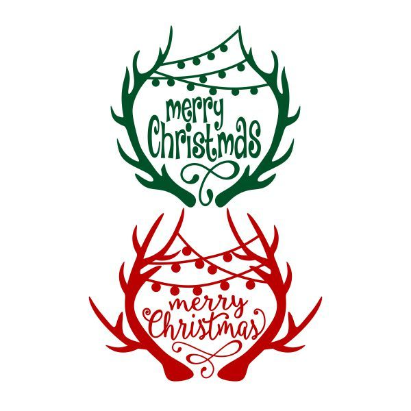 Merry Christmas Antlers Cuttable Design  Cut File. Vector, Clipart, Digital Scrapbooking Download, Available in JPEG, PDF, EPS, DXF and SVG. Works with Cricut, Design Space, Cuts A Lot, Make the Cut!, Inkscape, CorelDraw, Adobe Illustrator, Silhouette Cameo, Brother ScanNCut and other software.