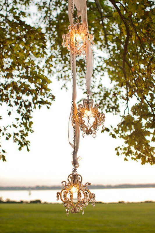 Outdoor chandelier