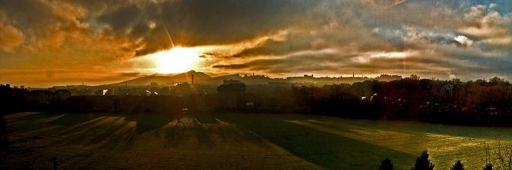 https://flic.kr/p/5F5FrP | Edinburgh Sunrise Panorama 29/11/08 | Taken From The Rear Window.