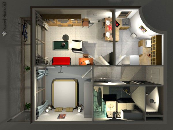 Sweet Home For Windows Is A Free Interior Design Application That Helps You Draw The Plan Of Your House Arrange Furniture On It And Visit