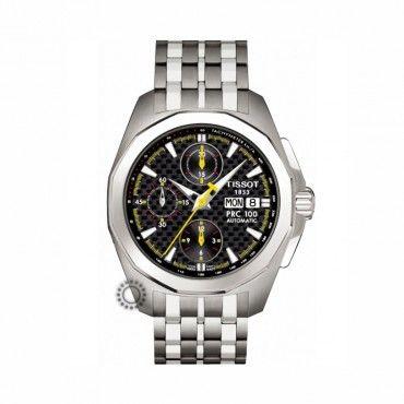 T0084141120100 Ανδρικό αυτόματο ρολόι χρονογράφος TISSOT PRC 100 με μπρασελέ & καντράν από ανθρακόνημα | Ελβετικοί χρονογράφοι ΤΣΑΛΔΑΡΗΣ στο Χαλάνδρι #Tissot #prc100 #ανθρακονημα #μπρασελε #ρολοι