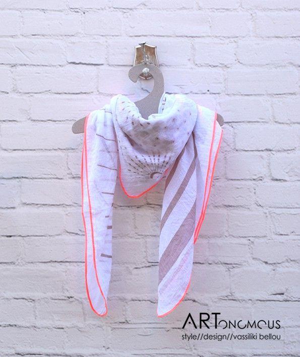 White square scarf
