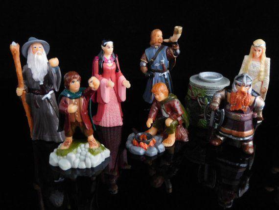 Vintage Toys, Sammlerstück, Herr der Ringe SET I, Hobbit, Legolas, komplette Serie von 10 Figuren, KINDER Überraschungsfiguren, Tortenaufleger   – kinder коллекшн