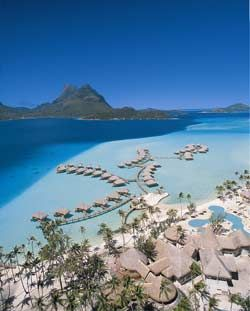 Pearl Beach Resort in Bora Bora...bungalows on the water...enough said.