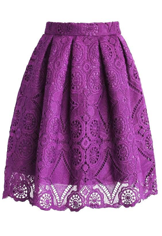 Beautiful Purple Lace Skirt <3