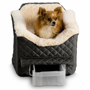 Snoozer® Lookout® II Pet Car Seat	 - PetSmart; This may be a good idea for traveling with the new puppy..