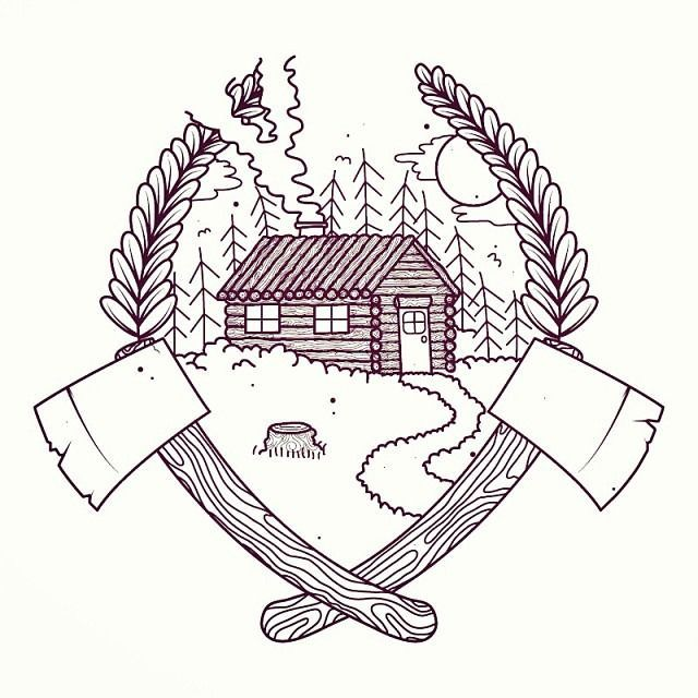 cabin tattoo | Tumblr