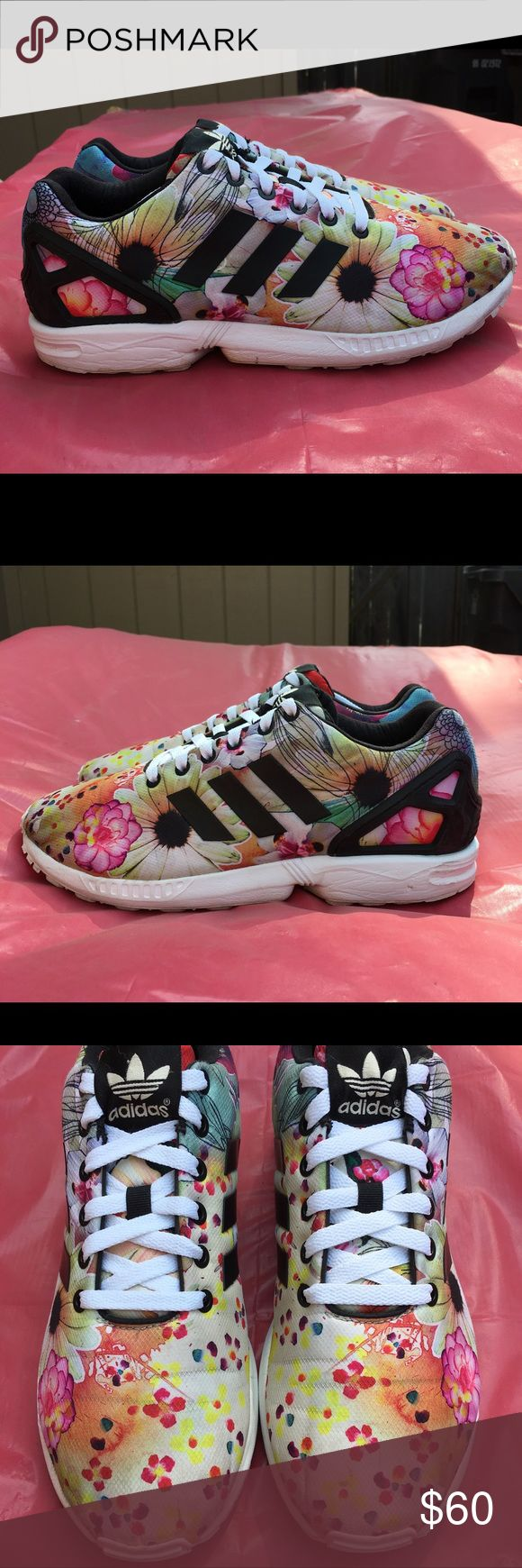 Adidas ZX Flux Floral Adidas Zx Flux Floral , Size 9.5 adidas Shoes Athletic Shoes
