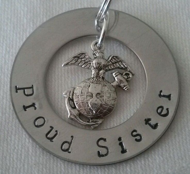 Proud Sister USMC EGA necklace ... email DanaNeemo@gmail.com for information and/or to order your custom creation