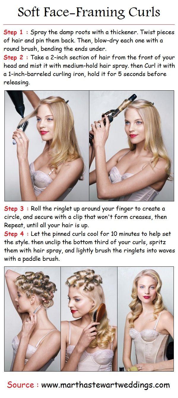 Soft Face-Framing Curls | PinTutorials