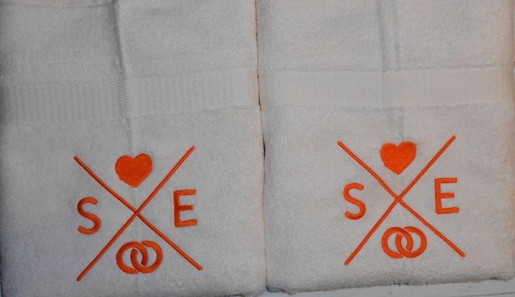 Handdoek na eigen ontwerp geborduurd http://www.borduurkoning.nl/shop
