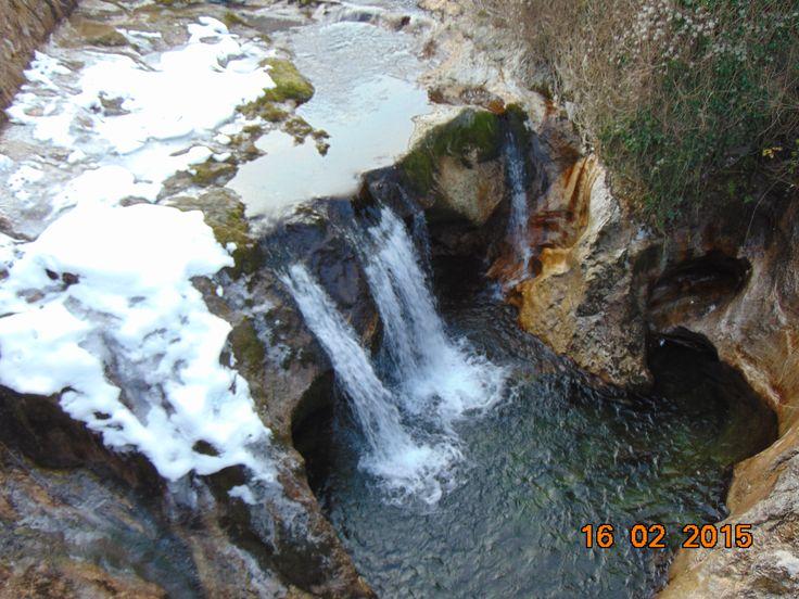 Kleiner Wasserfall in Ebensee