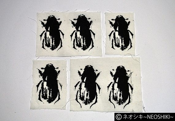 Beetles Crust Punk Patch Black & White ver. by by neoshiki on Etsy
