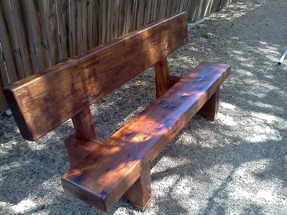 Wood Bench Design With Backrest Woodworking Projects Amp Plans