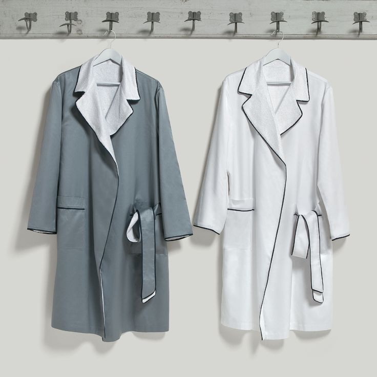 Bathrobes cut and sewn by hand like fine dresses. #Quagliotti #bathrobes #bath #linen #luxury #home
