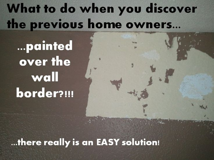 How to remove wallpaper border that has been painted over!!!E