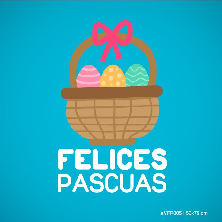 Canasta con Huevos - Felices Pascuas - #005