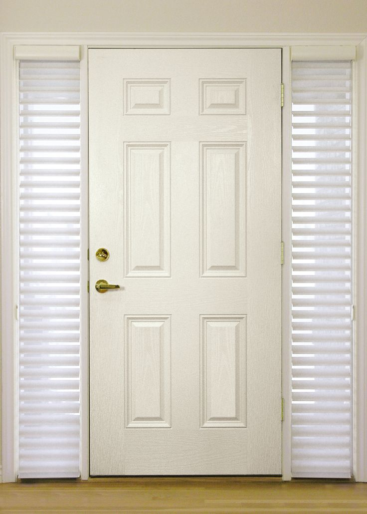 Hunter douglas nantuckets great for sidelights hunter for Entry doors with sidelights
