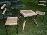 Table and chairs - in the garden